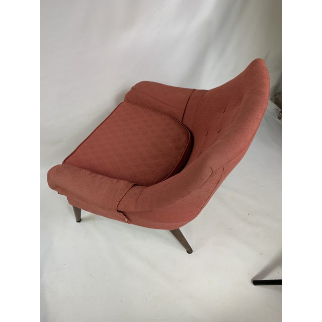 Red Mid-Century Lawrence Peabody - Craft Assoc. Lounge Chair For Sale - Image 8 of 10
