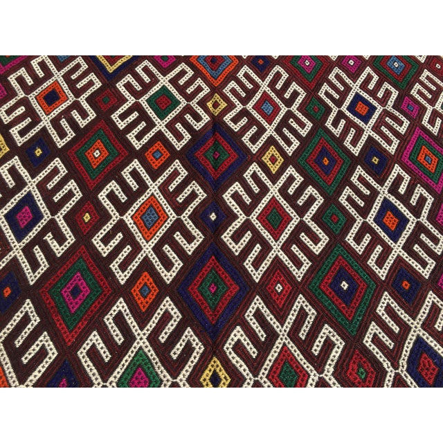 Vintage Turkish Kilim Rug- 7′1″ × 9′10″ - Image 5 of 10