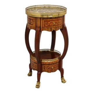 Maitland Smith Round Regency Style Accent Table With Paw Feet For Sale
