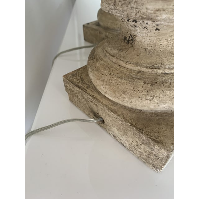 """1970s Plaster """"Stone"""" Baluster Lamps - a Pair For Sale In Miami - Image 6 of 12"""