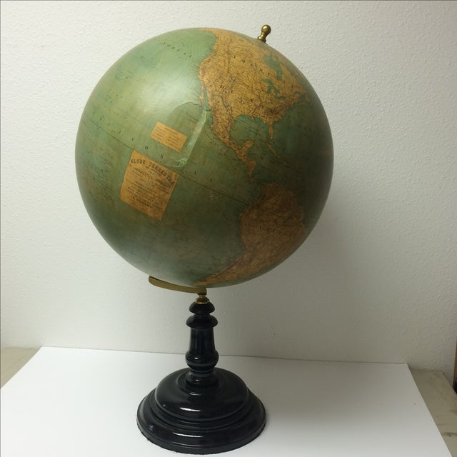 19th C. French Globe Terrestre - Image 2 of 11