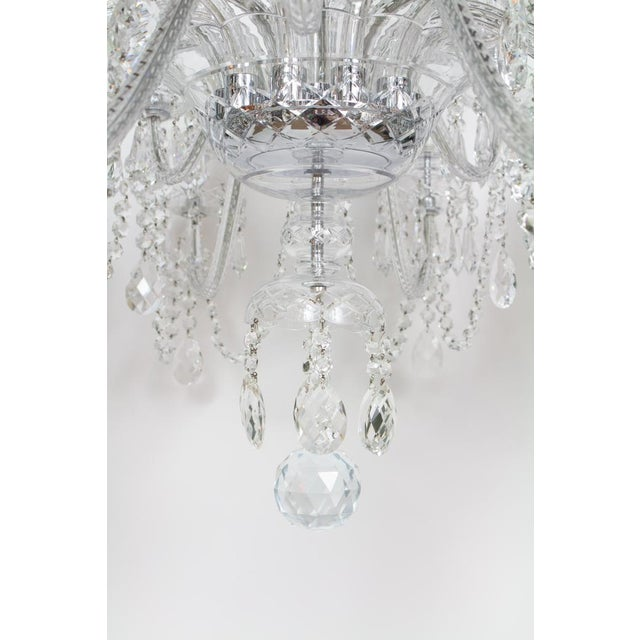 Early 21st Century Early 21st Century Preciosa Czech Crystal Chandelier - Showroom Sample For Sale - Image 5 of 7