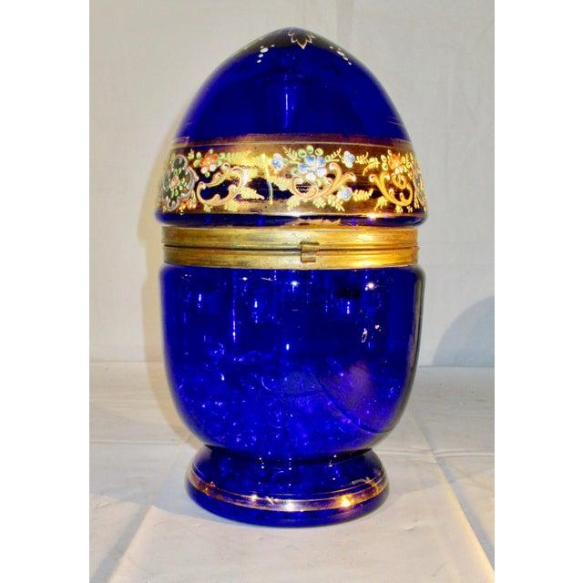 Blue 1940s Vintage Venetian Glass Decanter & Glasses - Set of 6 For Sale - Image 8 of 8