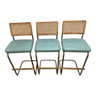 Bauhaus Style Bar Stools - Set of 3 For Sale