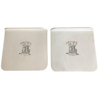 Late 19th Century English Queensware Scale Trays- A Pair For Sale