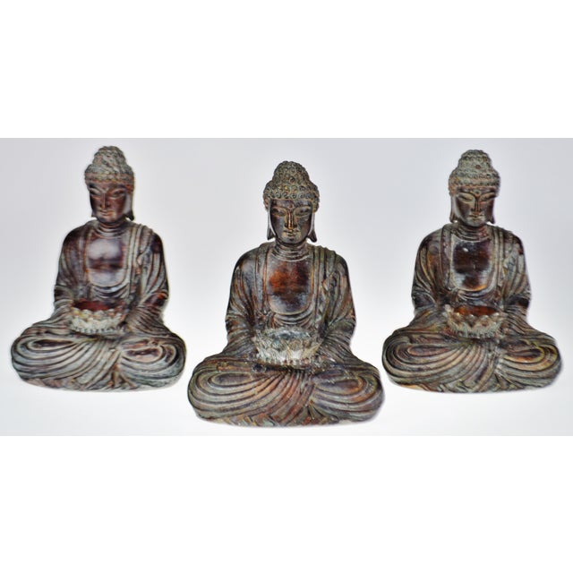 Vintage Asian Sitting Buddha Tealight Candle Holders For Sale In Philadelphia - Image 6 of 13