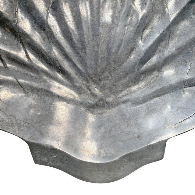 Silver Large Clam Shell Bowl For Sale - Image 8 of 10