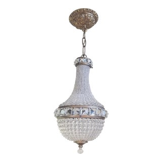 Antique French Empire Style Crystal Chandelier For Sale