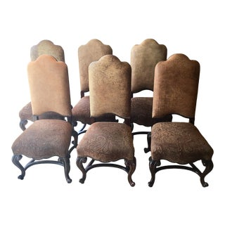 Maitland Smith Antique Lido Chairs - Set of 6 For Sale