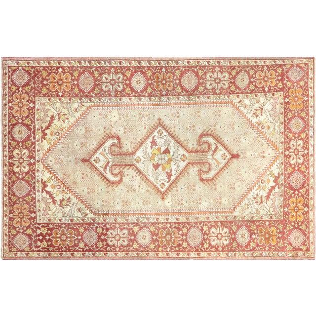 "Textile 1920s Turkish Oushak Carpet - 8'3"" X 12'7"" For Sale - Image 7 of 7"