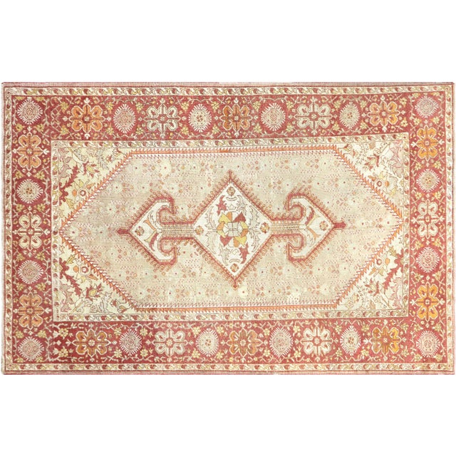 "Textile Nalbandian - 1920s Turkish Oushak Carpet - 8'3"" X 12'7"" For Sale - Image 7 of 7"