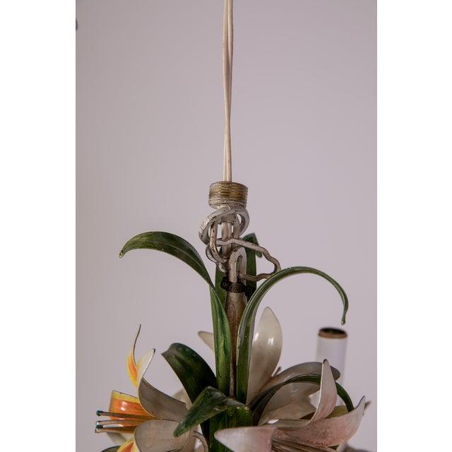 Madcap Cottage Tole Lily 3-Light Chandelier For Sale - Image 9 of 12