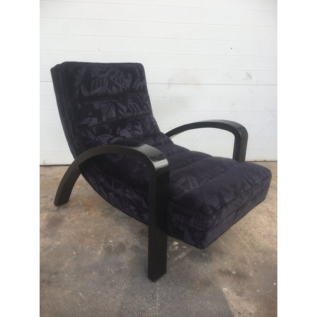Mid-Century Modern Mid-Century Abstract Upholstered Lounge Chair For Sale - Image 3 of 8