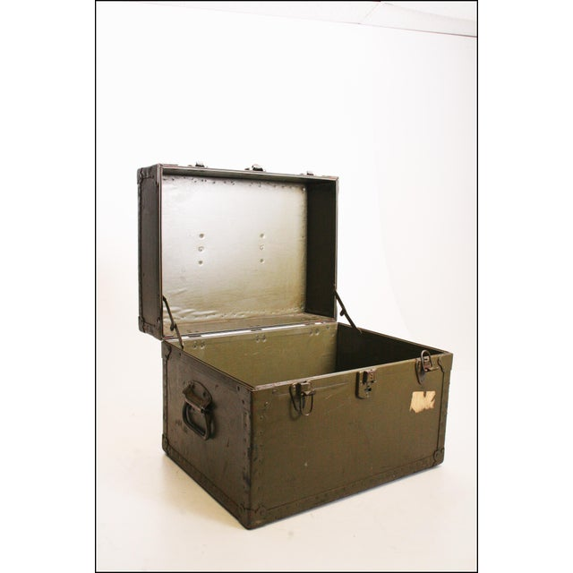 Vintage Industrial Green Military Hard Case - Image 8 of 11
