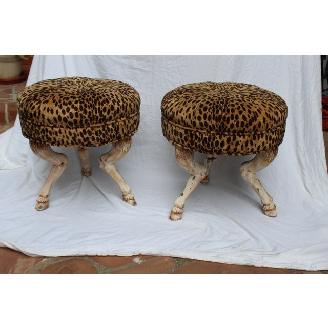 Vintage 20th Century French Stools- a Pair For Sale - Image 4 of 6