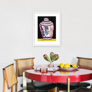 """Medium """"White Vase"""" Print by Jelly Chen, 17"""" X 21"""" Preview"""