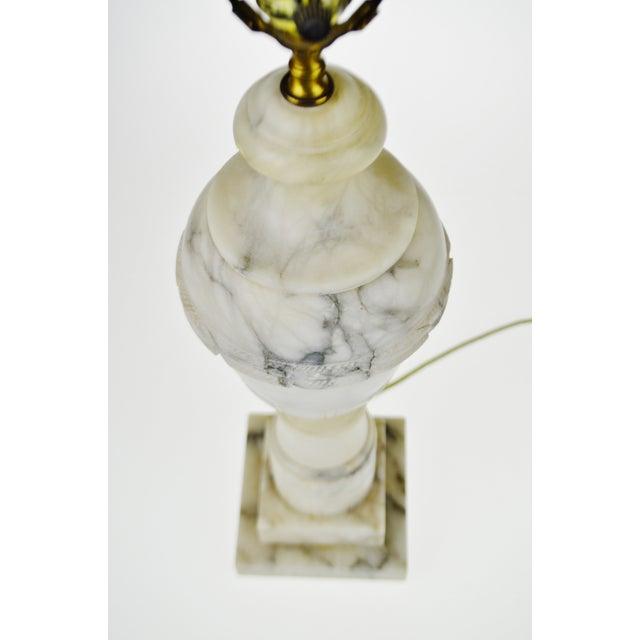 Vintage Carved Alabaster Table Lamp - Image 5 of 10