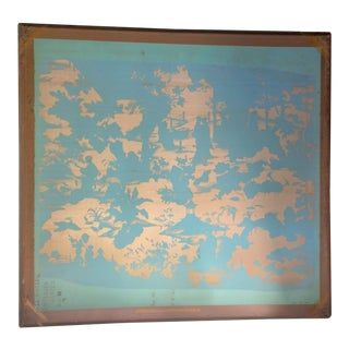 Chinoiserie Industrial Silk Screen Art For Sale
