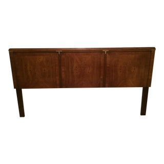 Hollywood Regency Walnut King Headboard