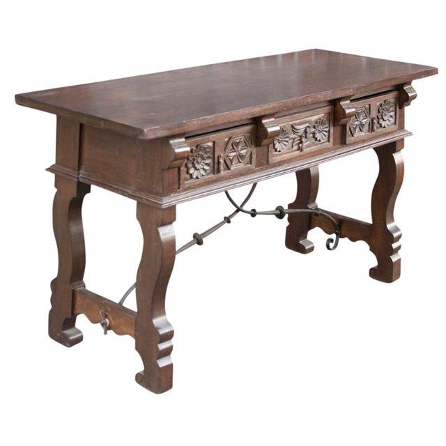 Spanish Colonial Style Console Table - Image 2 of 6