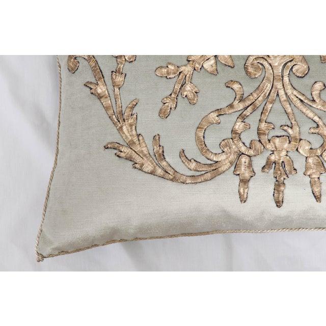 B. VIZ Design B. Viz Design Antique Empire Textile Pillow For Sale - Image 4 of 5