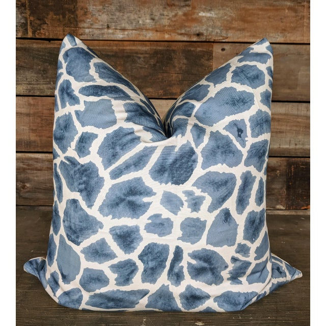 Thibaut Fabric Makena Giraffe Pillow Cover For Sale - Image 4 of 4