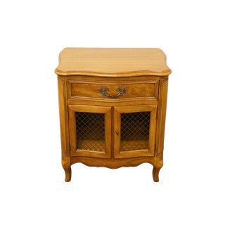 Morganton Furniture Country French Cabinet Door Nightstand For Sale