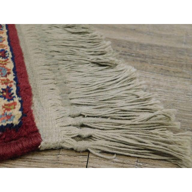 Karastan Red Sarouk #785 Rug 5' x 2' Multicolor Area Throw Rug For Sale - Image 9 of 13