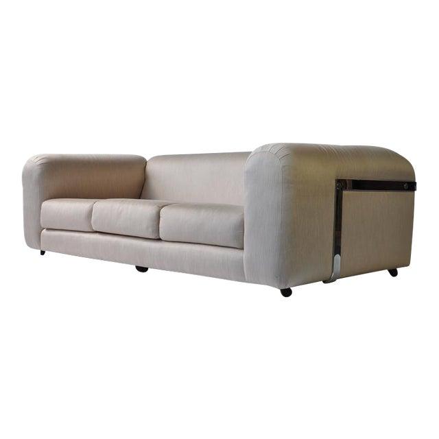 1970s Chrome Frame Sofa For Sale