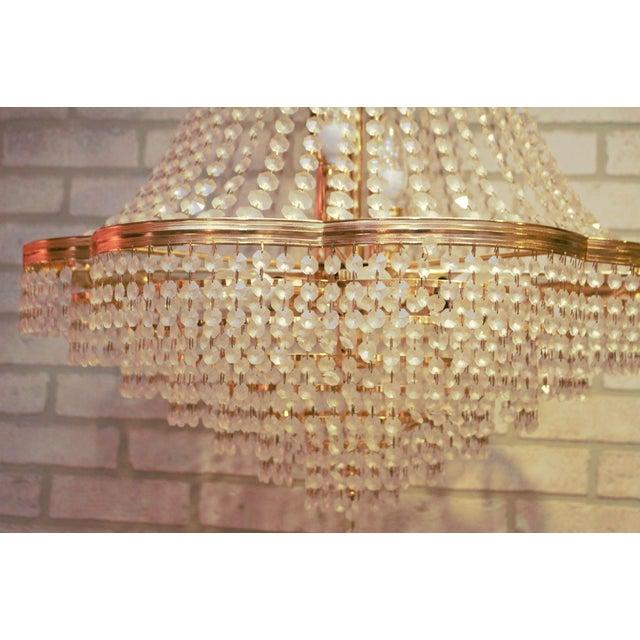Vintage Swarovski Crystal Chandelier For Sale - Image 10 of 12