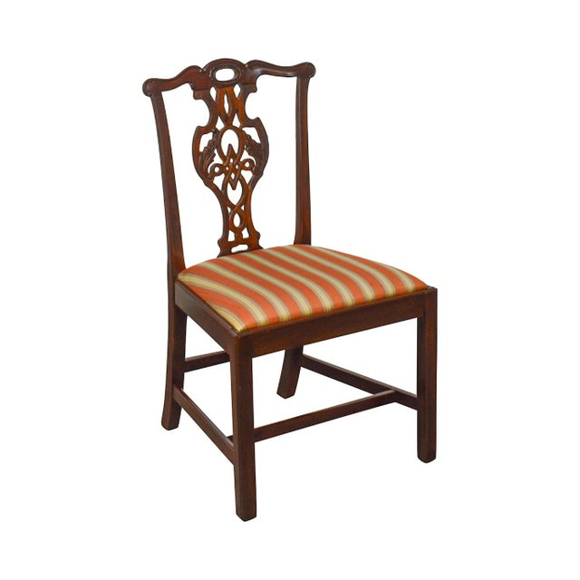 Baker Historic Charleston Collection Chippendale Style Mahogany Side Chair For Sale - Image 13 of 13