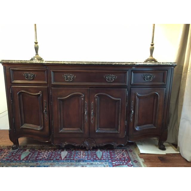 Marble/Granite Top Dining Room Buffet/Sideboard by Bernhardt - Image 4 of 8