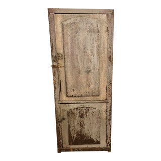Antique Primitive Chimney Farmhouse Cabinet Chippy Shabby Chic For Sale