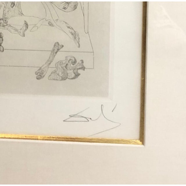 Pen and Ink Pair of Salvador Dali (Les Chants De Maldoror) For Sale - Image 7 of 9