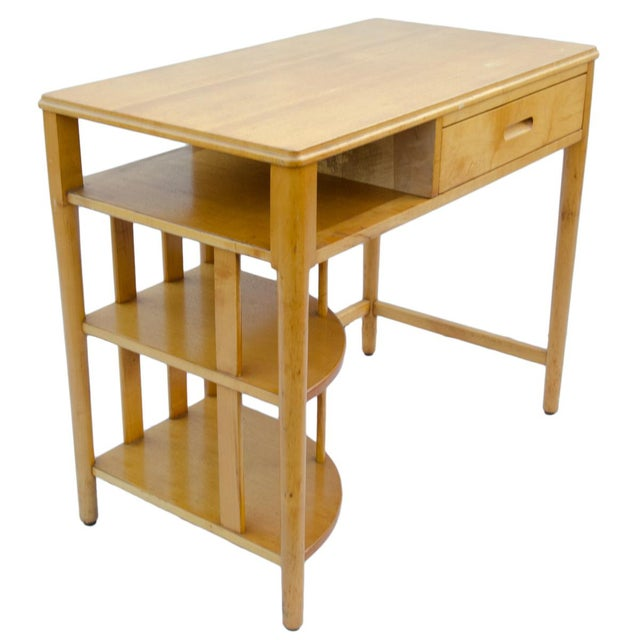 Maple Mid-Century Hill-Rom Maple Desk For Sale - Image 7 of 8