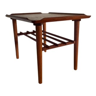 Poul Jensen Style Teak Side Table For Sale