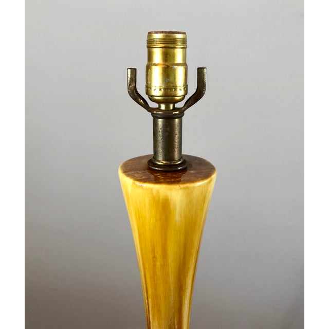 Mid-Century Modern Ceramic Drip Glaze Table Lamp For Sale - Image 4 of 10