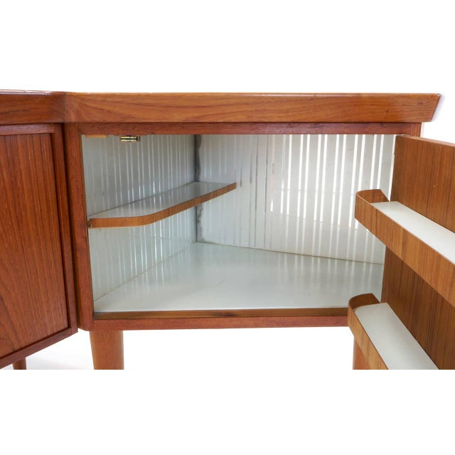 1950s Danish Modern Arne Vodder Teak Desk With Built in Bar For Sale - Image 9 of 10