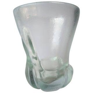 """Calo Scarpa """"Corroso Vase"""" by Venini Murano Glass, Signed For Sale"""