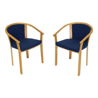 Pair of Danish Modern Barrel Back Chairs For Sale