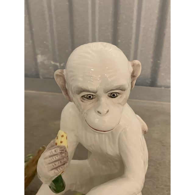 Vintage White Italian Ceramic Monkeys - a Pair For Sale - Image 10 of 13
