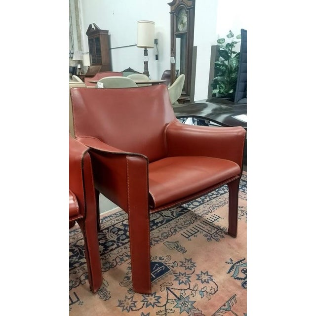 1980s model CAB 414 lounge chairs by Mario Bellini for Cassina Italy. 4 total in stock. Chairs are in excellent condition....