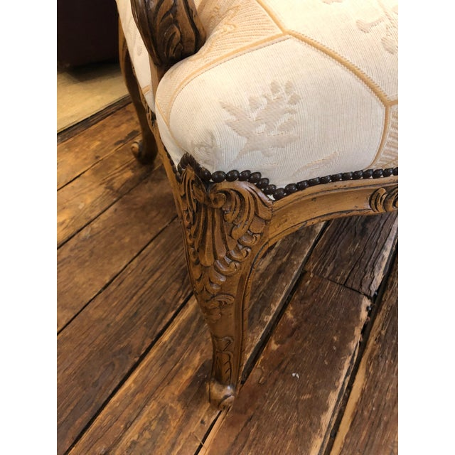 Baker French Style Arm Chair For Sale - Image 9 of 11
