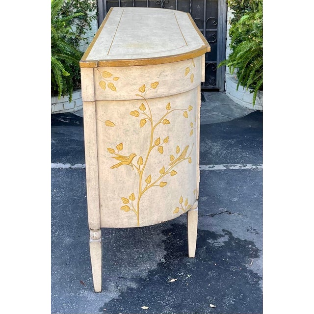 Paint Equator Furniture Company Rustic Painted Sideboard Buffet Credenza Cabinet For Sale - Image 7 of 8