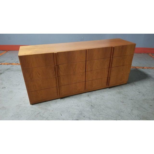 Mid Century Modern Danish 8 Drawer Credenza Dresser For Sale - Image 4 of 12