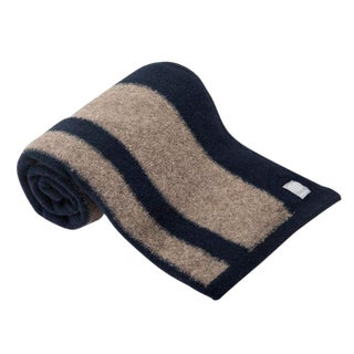 Lodge Wool-Yak Throw in Taupe/Black For Sale