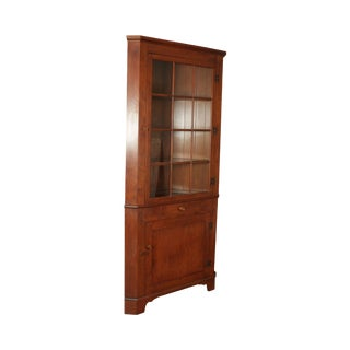 Trutype Vintage Solid Rock Maple Corner Cabinet For Sale