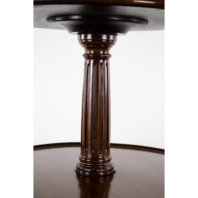 Wood 19th Century English Traditional 3-Tier Walnut Dumbwaiter Table For Sale - Image 7 of 13