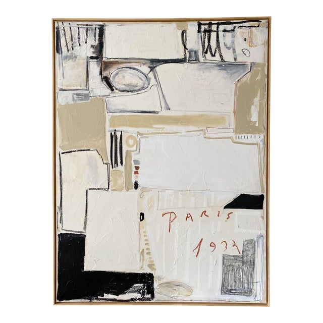 """Josh Young Design House """"Paris, 1932"""" Framed Painting For Sale"""