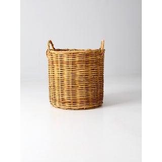 Vintage Woven Hamper Basket Preview